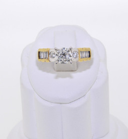 14K Two-Tone Gold Diamond Engagement Ring