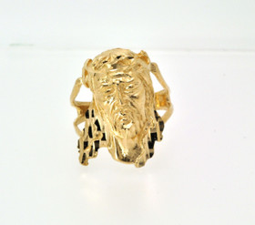 10016278 14K Yellow Gold Christ Head Ring