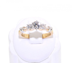 14K Yellow Gold 1.0ct Diamond Engagement Ring