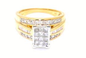 14K Yellow Gold 1.12 ct Diamond Engagement Ring