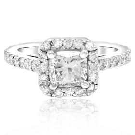 14K White Gold Diamond Engagement Ring 11003051