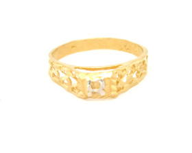 10016331 14K Yellow Gold Baby Initial Ring