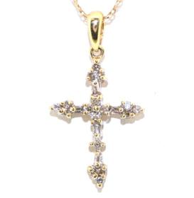 14K Yellow Gold Diamond Cross 51001377