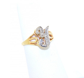 "11003222 14K Yellow Gold ""Y"" Diamond Initial Ring"