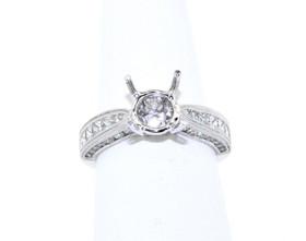 18K White Gold 1.20 ct Diamond Engagement Ring Setting