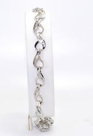 21000401 14K White Gold Diamond Tennis Bracelet