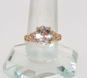 12001743 14K Yellow Gold Kunzite/Diamond Ring