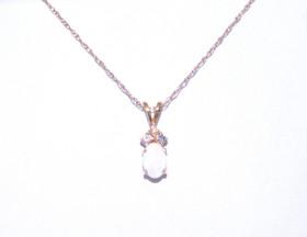 52000659 14K Yellow Gold Diamond/Opal Charm