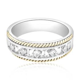 14K Two Tone Diamond Wedding Band 11001619