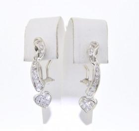 18K White Gold Diamond Fancy Drop Earrings 41000641