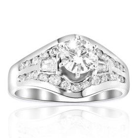 14K White Gold Certified 0.50ct Diamond Engagement Ring