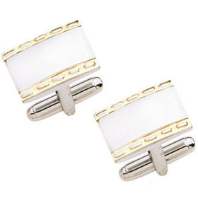 67000049 Sterling and Steel Cuff Links