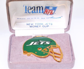 89910024 Anson New York Jets Helmet Enamel Gold Plated Money Clip