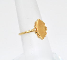 10016347 14K Yellow Gold Signet Ring