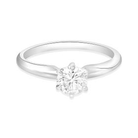 14K White Gold .50ct Diamond Engagement Ring