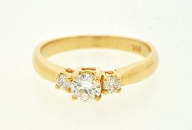 14K Yellow Gold 0.42 ct Diamond Engagement Ring
