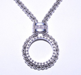 83010389 Sterling Silver Diamond Necklace