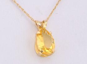 52060055 14K Yellow Gold Citrine Charm