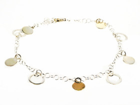 82010317 Sterling Silver Circles Anklet