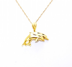 14K Yellow Gold Twin Dolphins Charm 50002482
