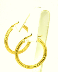 14K Yellow Gold Twist Hoop Earrings 40001469