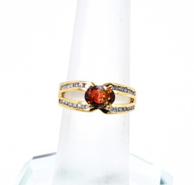 11000367 14K Yellow Gold Tourmaline/Diamond Ring
