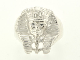 81010184 Sterling Silver Black Diamond Pharaoh Ring