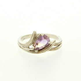 81210039 Sterling Silver Amethyst Ring