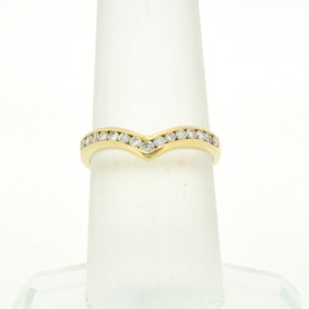 14K Yellow Gold Diamond Wedding Band 11003501