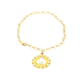 20001184 14K Two Tone Gold Holy Communion Bracelet