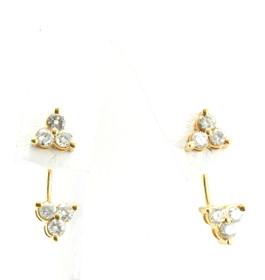 14K Yellow Gold Diamond Earrings 41000705 By Shin Brothers Jewelers Inc
