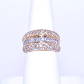 12001982 14K Yellow Gold CZ Ring