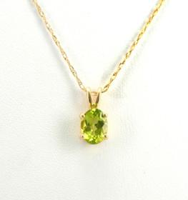 52001413 14K Yellow Gold Peridot Charm