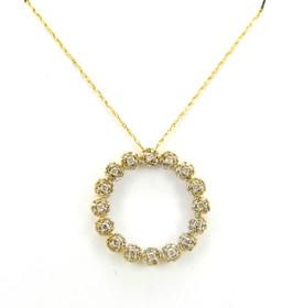 59000150 10K Yellow Gold Diamond Circle Charm