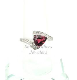 14K White Gold Diamond/Tourmaline Ring 12002050