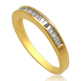 14K Yellow Gold Diamond Wedding Band 11003608
