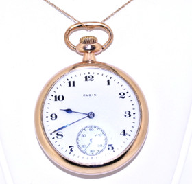 69000079 Gold Filled Preowned Elgin Wind Up Pocketwatch