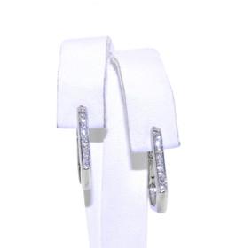 18K White Gold Diamond Hoop Earrings 51001555