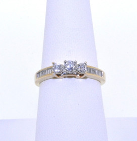 14K Yellow Gold 0.65 ct Diamond Engagement Ring