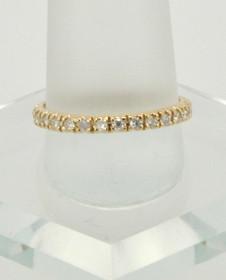 14K Yellow Gold Diamond Wedding Band 11000207