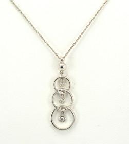 51001563 14K White Gold Diamond Circles Charm