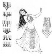 Belly Dance Pattern #19 - Parveneh's Panels by Atira