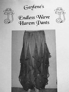 Belly Dance Endless Wave Harem Pants Pattern (designed by Gaylene)