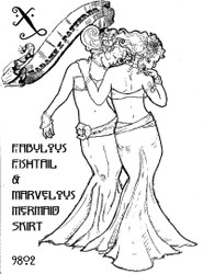 Belly Dance / Tribal Pattern #9802 - The Marvelous Mermaid & Fabulous Fishtail Skirt by Madame X  New Cover, Same Pattern