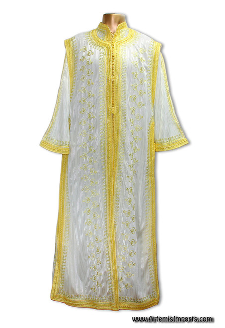 White Double Caftan from Morocco