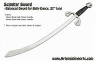 Belly Dance Scimitar Sword -  Balanced Sword for Belly Dance