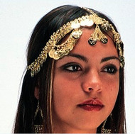 Belly Dance Head Piece - Coin in Gold or Silver