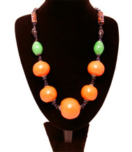 Berber Necklace With Large Orange Beads
