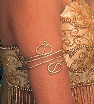 Upper Arm Snake Bracelet for Belly Dance - Gold or Silver