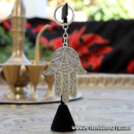 Large Hand of Fatma / Hamsa Filigree Key Chain